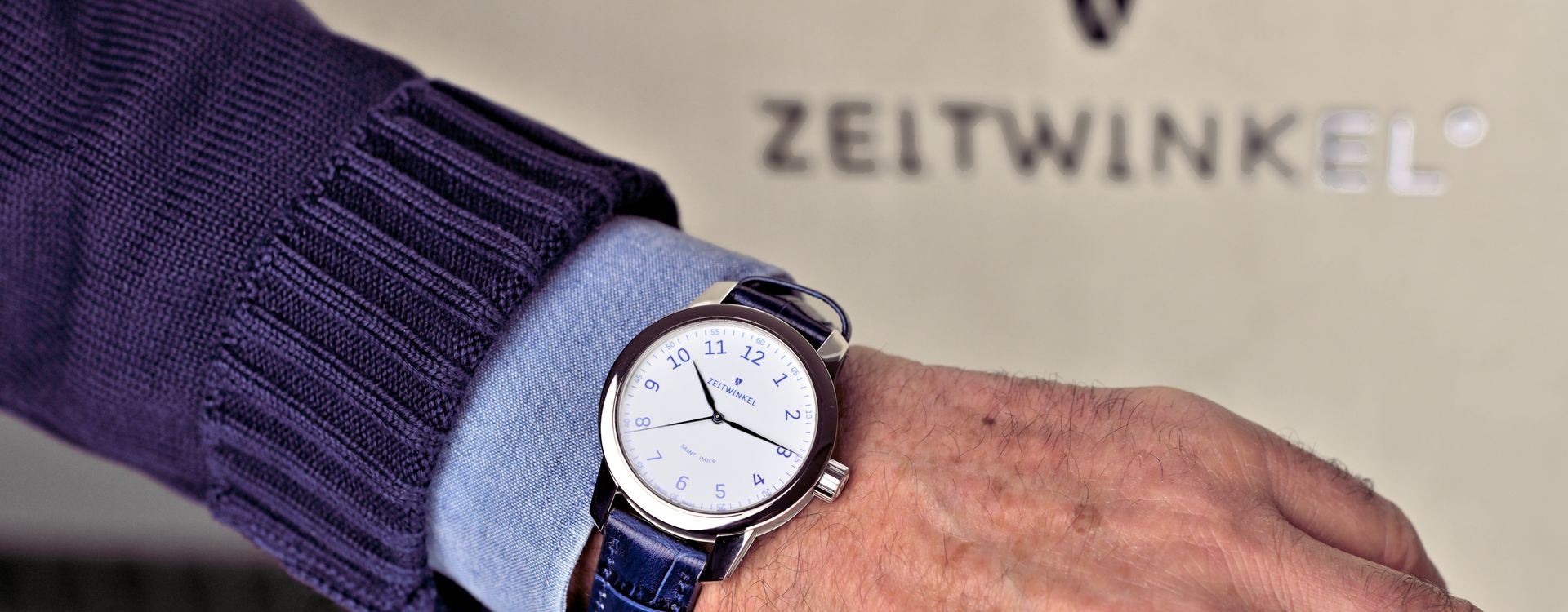 Zeitwinkel Swiss manufacture watch 082° Email Grand Feu with enamel dial