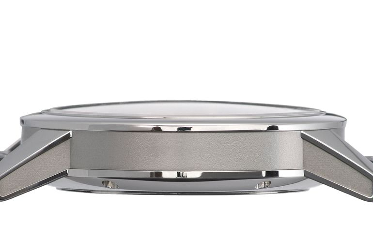 Zeitwinkel watch housing 42.5mm from the side with sapphire crystal on the dial side