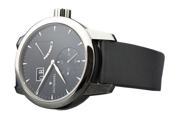 Zeitwinkel manufacture watch 273° with rubber strap