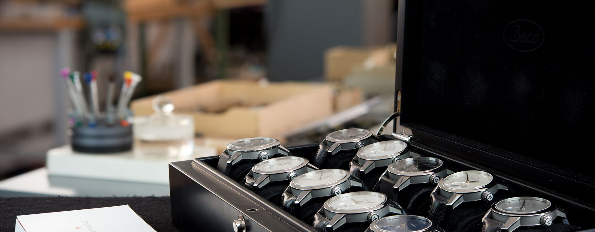 Zeitwinkel watches in the manufacture in Saint-Imier, Switzerland